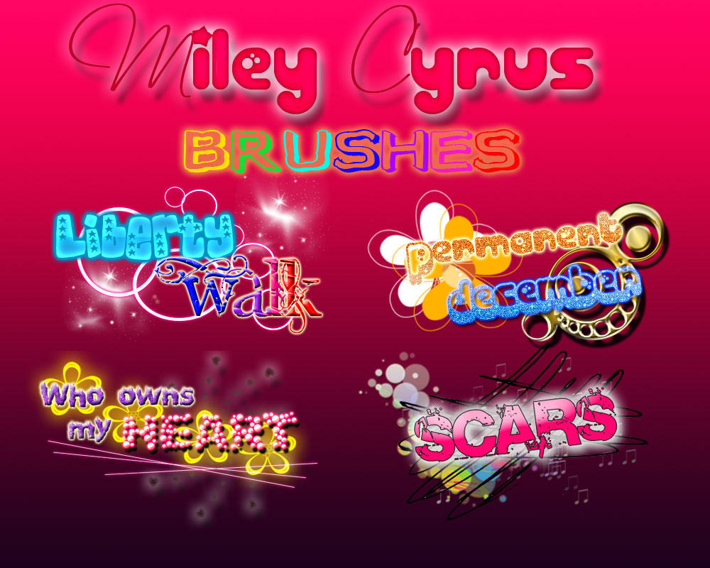 Miley Cyrus Brushes by Sandylovemiley
