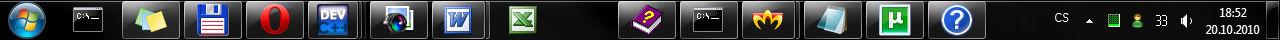 Windows 7 Taskbar Separator