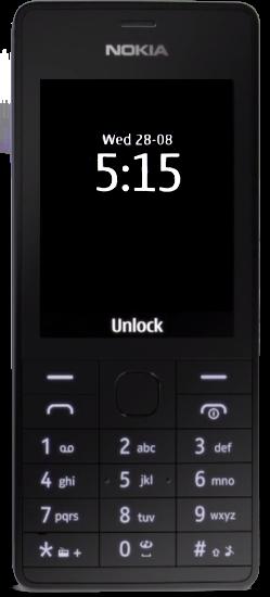 Nokia 515 minimal black theme