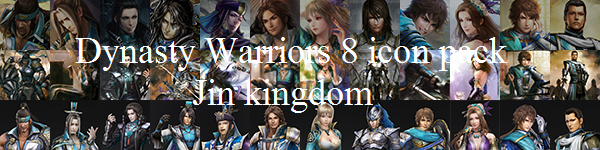 Dynasty Warriors 8 icon pack: Jin by Irockoutloudest