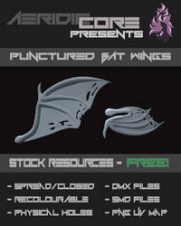 [DL/STOCK] Punctured Bat Wings by AeridicCore