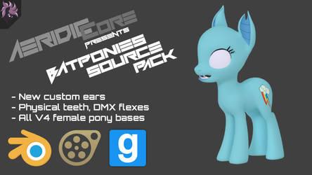 [DL] Batponies Source Pack by AeridicCore