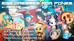 [DL] Equestria Girls Dresses for Ponies