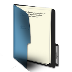 Blue Live Folder ico Set