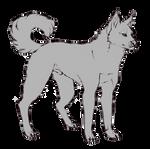 free dog lineart PSD
