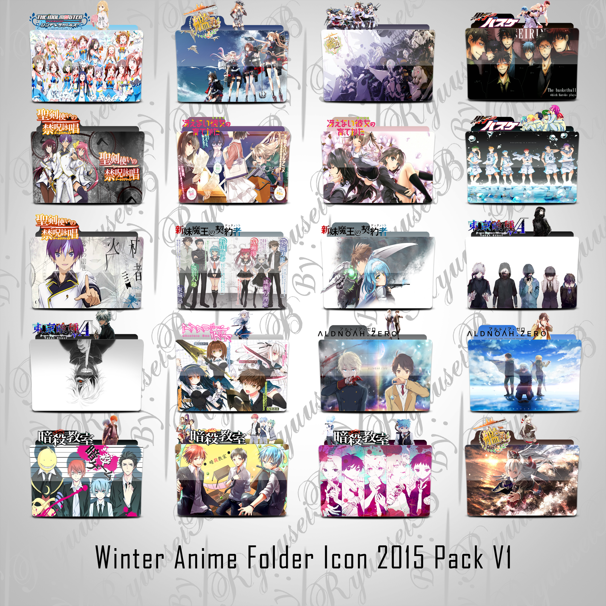 Winter Anime 2015 Folder Icon Pack V1 By RyuuseiB