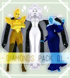 MMD Yellow, Blue, White Diamond Pack [DOWNLOAD]