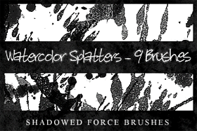 Watercolor Splatters-9 Brushes by ShadowedForce