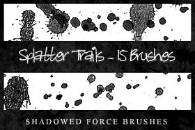 Splatter Trails - 15 Brushes by ShadowedForce