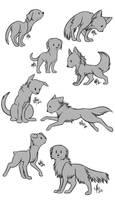 Chibi Canine Lineart - FREE by Ignyae