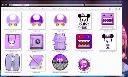 Iconos violetas