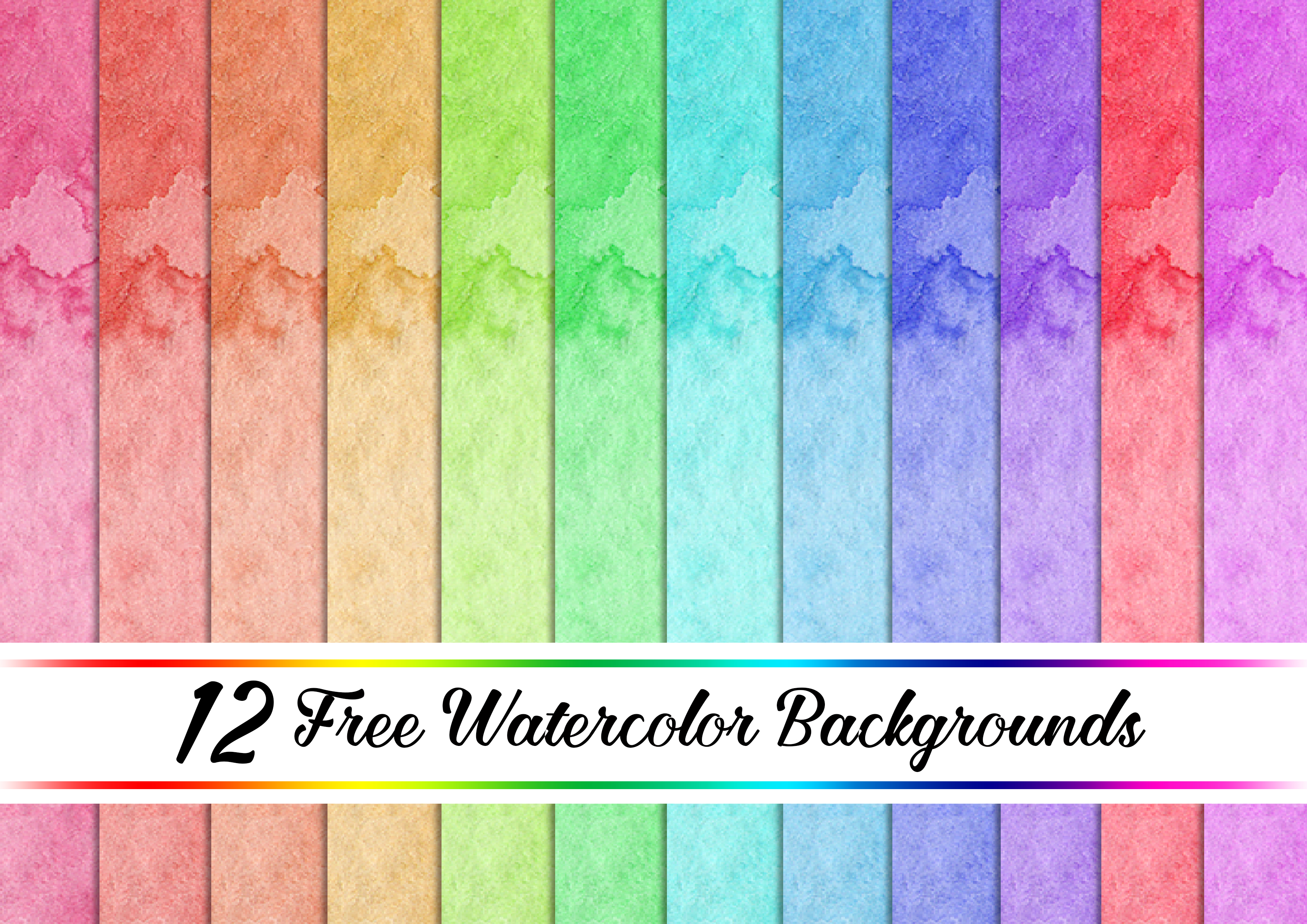 12 Free Watercolour Backgrounds