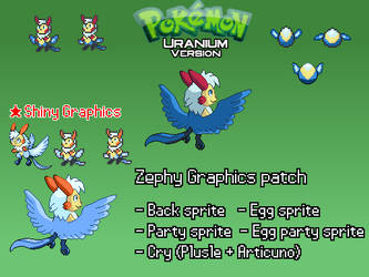 Pokemon Uranium: Zephy Graphics/Cry Patch by Gold-DustFox