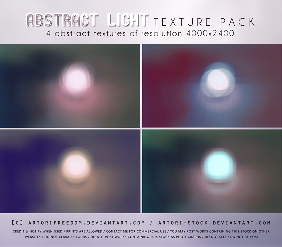 Abstract Light Texture Pack by artori-stock