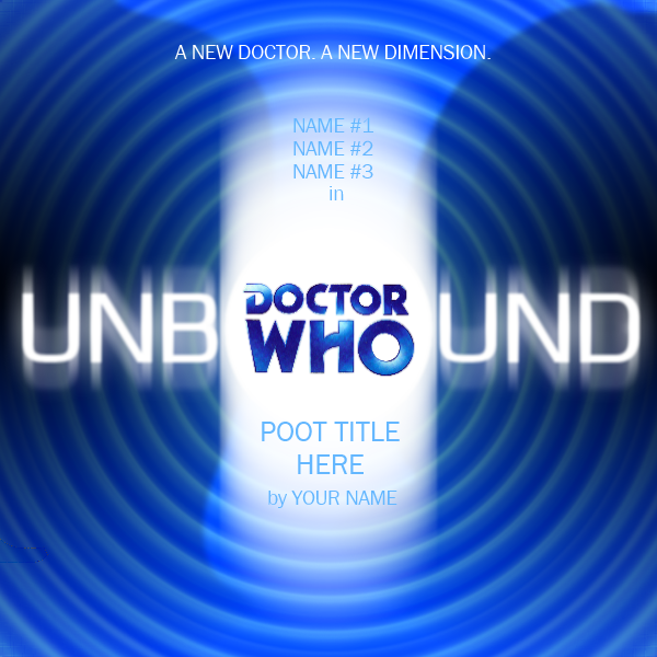 Doctor Who Unbound - Cover Template by RobbbieFactor on DeviantArt
