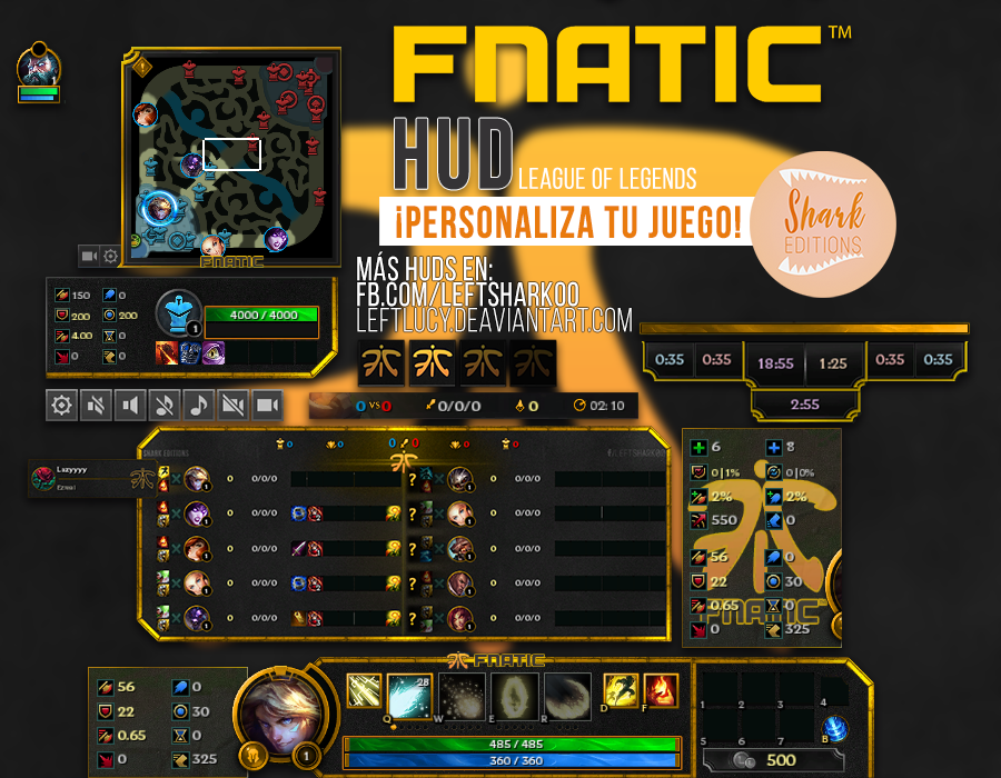Fnatic HUD League of Legends by LeftLucy