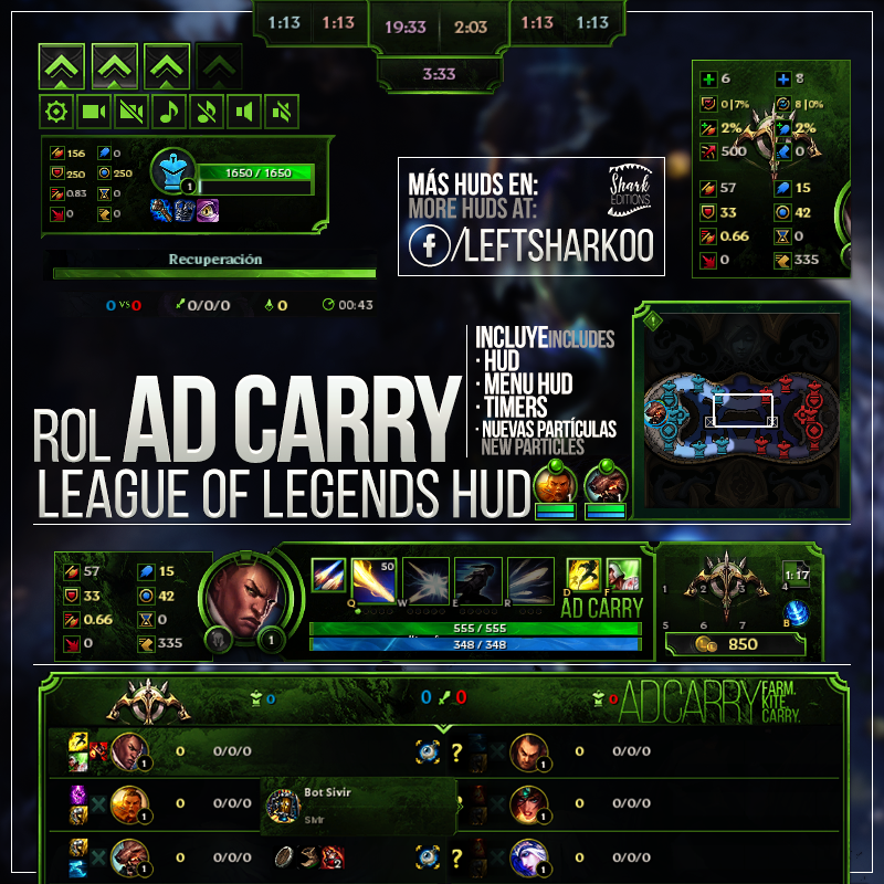 AD Carry League of Legends HUD by LeftLucy ...
