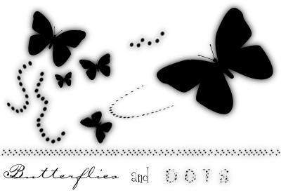 Butterflies and Dots Brushes by IHopeYouDance