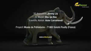 Mammuthus meridionalis 3D animation