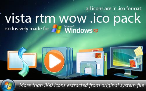 Vista RTM Wow .ico Pack by zawir