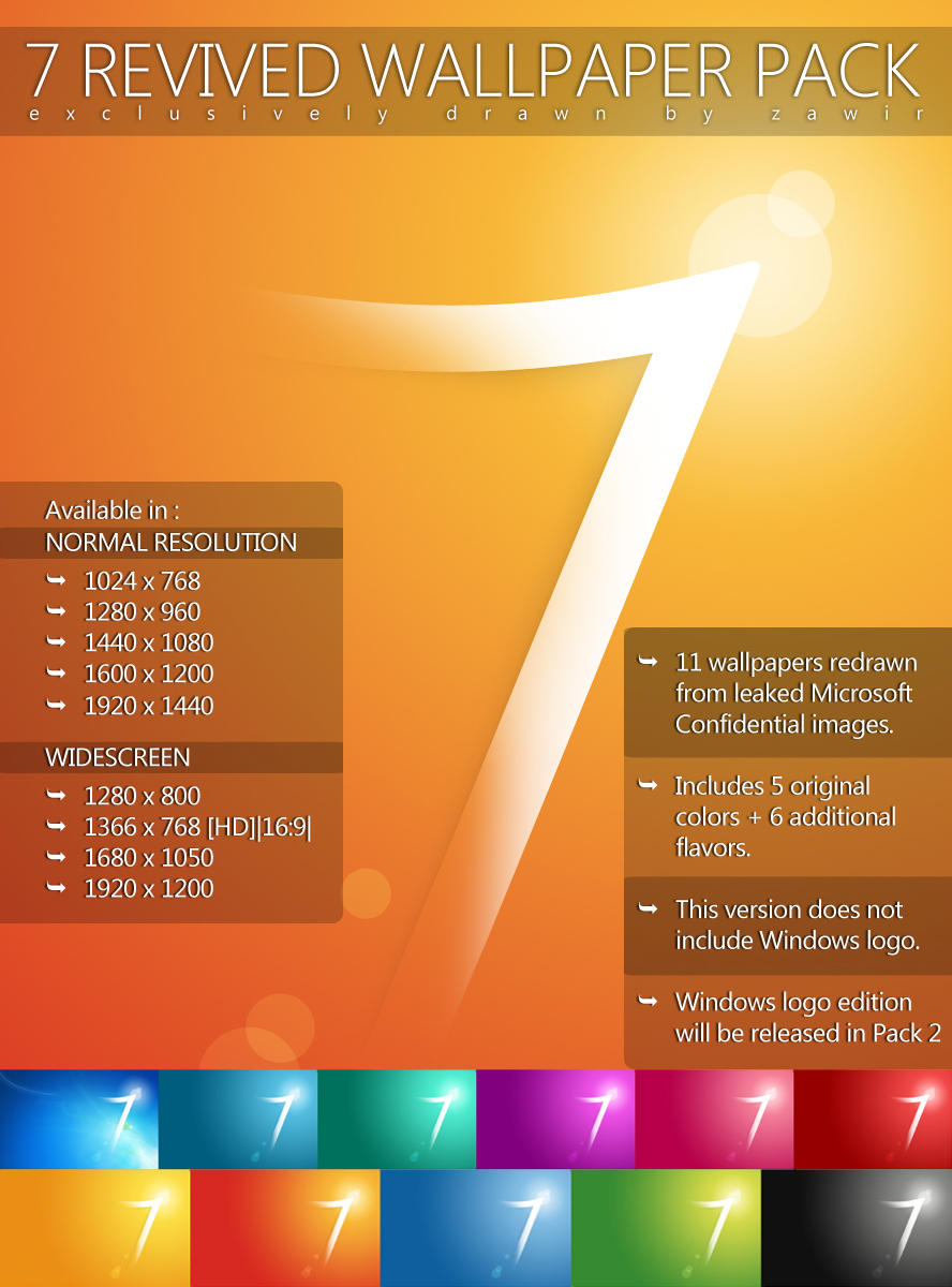 7 Revived Wallpaper Pack 1 by zawir