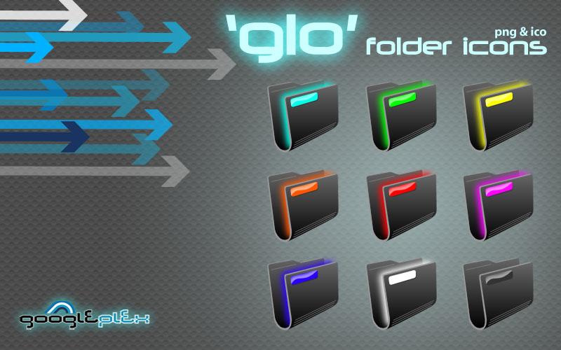 'Glo' folder icons