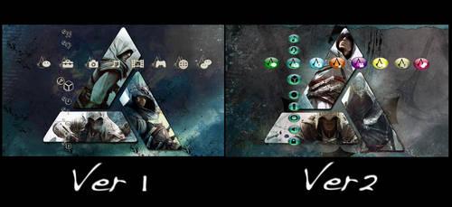 Assassins Creed: Altair, Ezio, Connor PS3 Theme 2