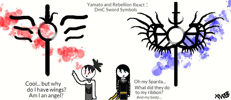 Yamato And Rebellion React Dmc Sword Symbols By Yamatoandrebellion