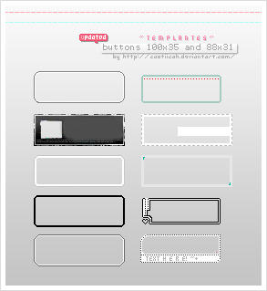Templates for web's buttons by caotiicah