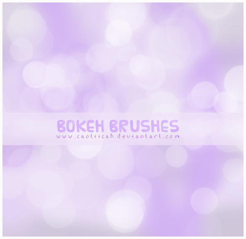 Bokeh brushes by caotiicah