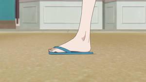 Akira Tachibana's feet in sandals 2