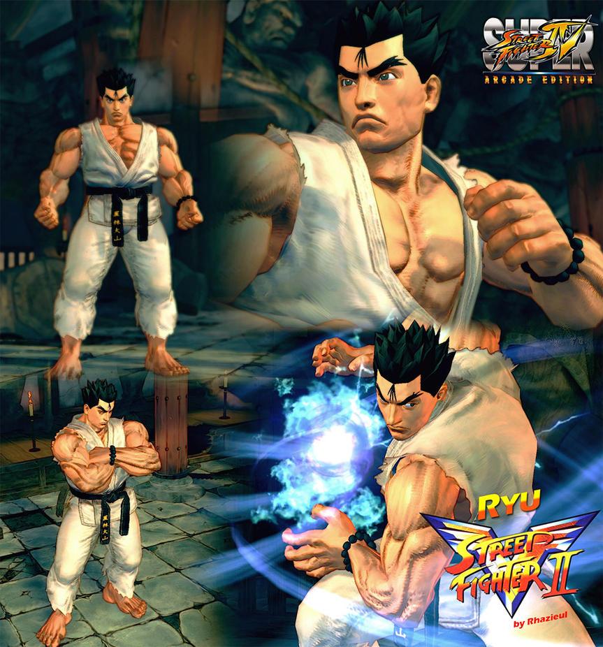 Ryu Street Fighter II Victory by Rhazieul