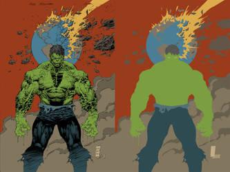 hulk asunder 1 FLATS by jotazombie
