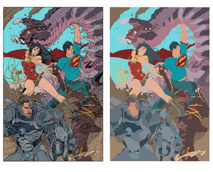 Superman 16 Cover Flats