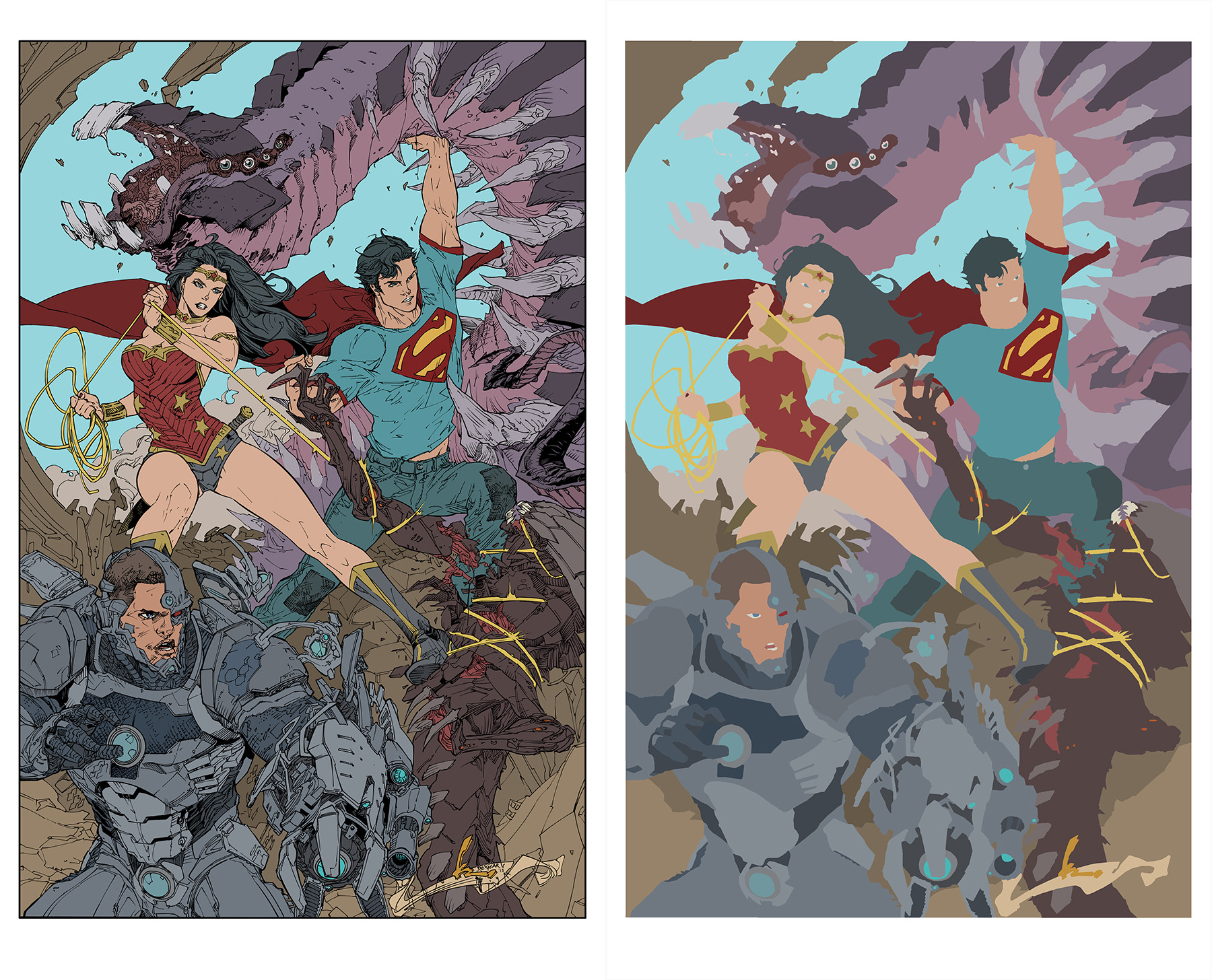 Superman 16 Cover Flats by jotazombie