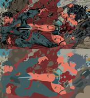 Super Man Vs  Wonder Woman  Flats by jotazombie