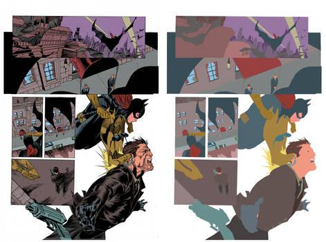 Batgirl Page Flats by jotazombie
