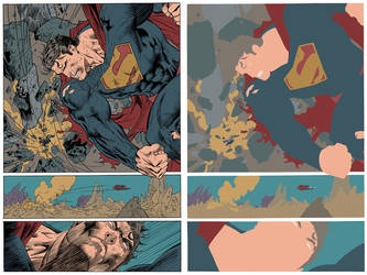 Jim Lee Superman Flats by jotazombie