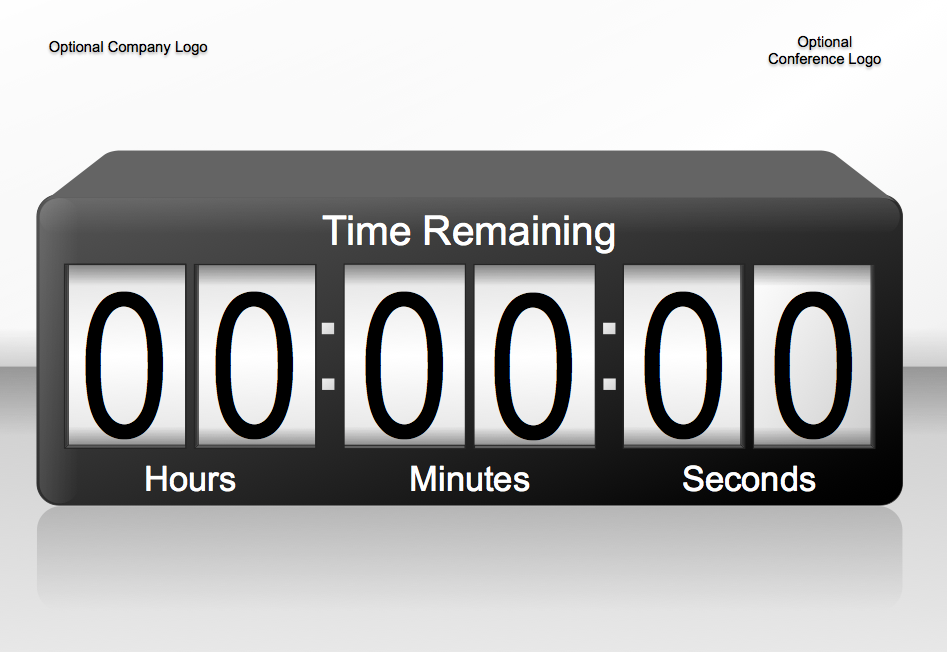 3D Animated 60min PowerPoint Countdown Timer 4:3 by nersveen
