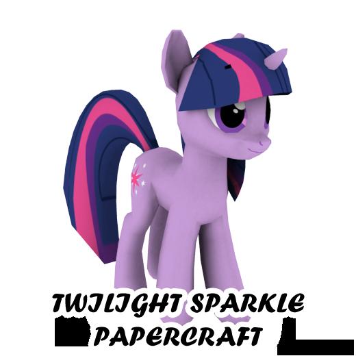 Twilight Sparkle papercraft by darth-biomech