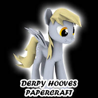 Derpy Hooves papercraft by darth-biomech