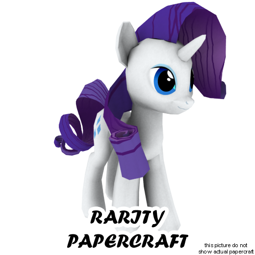 Rarity papercraft by darth-biomech