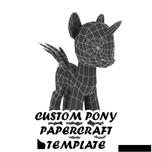 Pony Papercraft Blank Template By Darth Biomech On DeviantArt