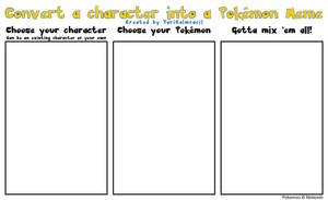 BLANK Convert a character into a Pokemon Meme
