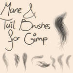Mane and Tail Brushes for Gimp