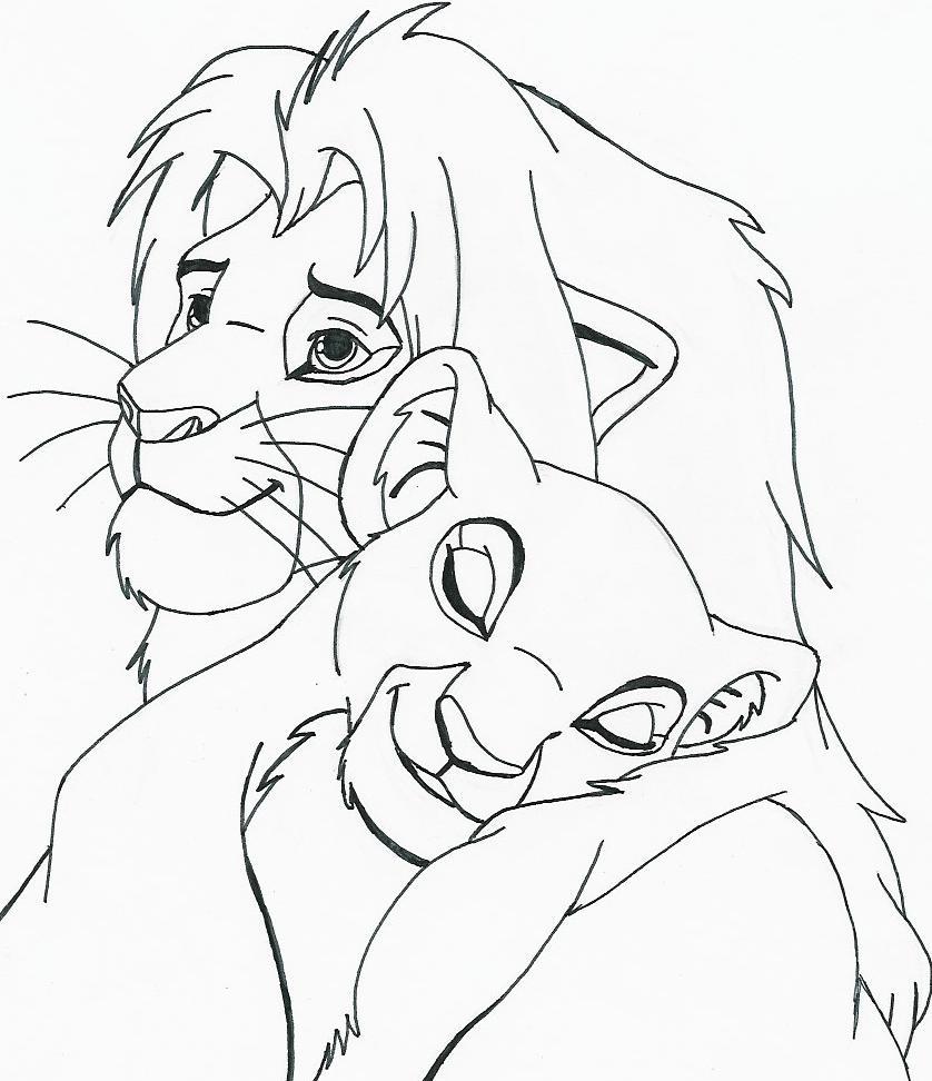 Simba And Nala Snuggle By Shemara On Deviantart