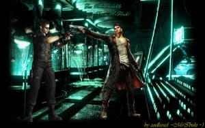 Wesker vs Dante by zoellisrus