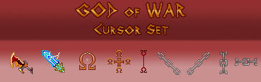 God of War Cursor Set by Zachula
