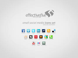 Small social media icons set by EffectiveFive