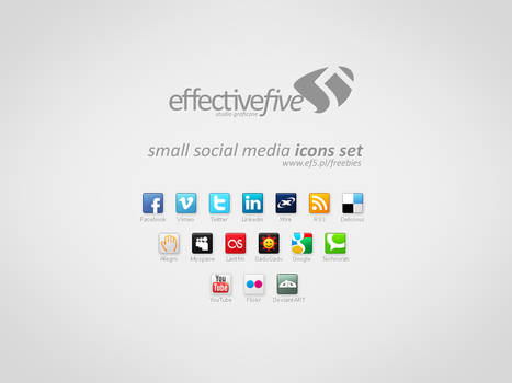 Small social media icons set